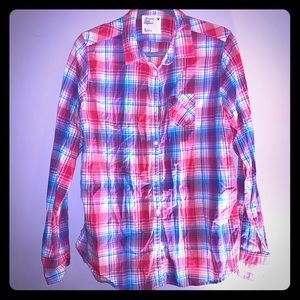 Women's American Eagle plaid button up